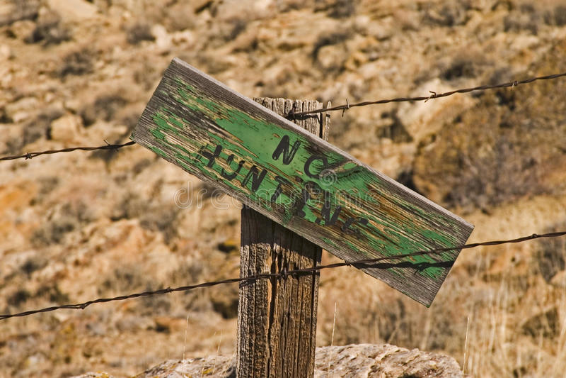No Hunting Sign royalty free stock image