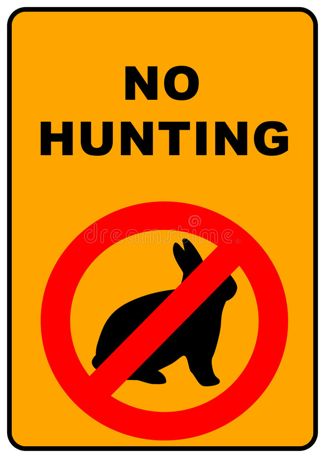 No Hunting Sign royalty free illustration