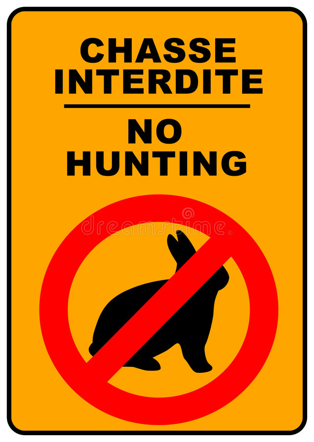 Download No Hunting Sign stock illustration. Image of banner, defendu - 7616748