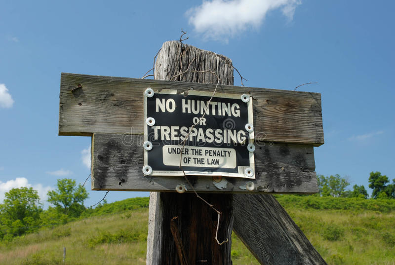 No Hunting or Trespassing royalty free stock images