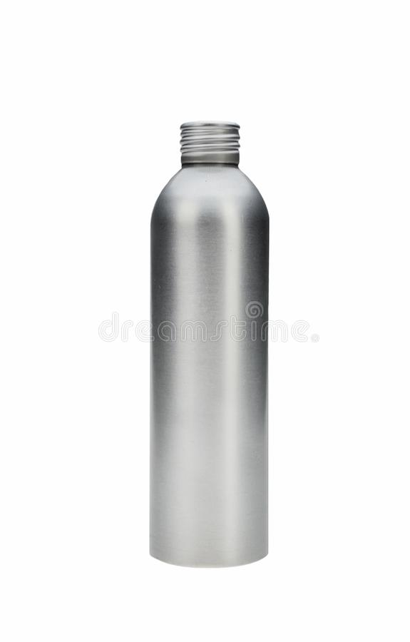 No icon metalic bottle for cosmetics isolated.  stock images