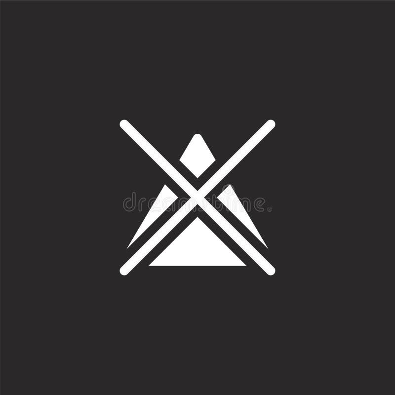 no icono del blanqueo Llenado no blanquee el icono para el diseño y el móvil, desarrollo de la página web del app no blanquear el ilustración del vector