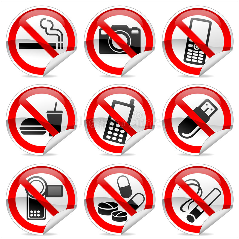 No icons stock illustration