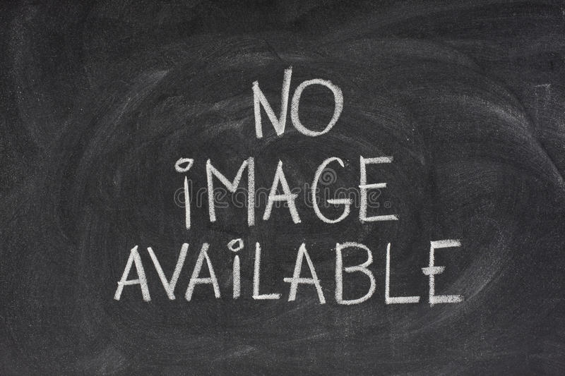 No Image Available Text On Blackboard Stock Photos