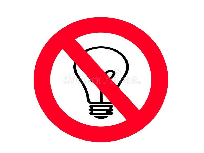 Download NO Incandescent Light Bulb SIGN Stock Illustration - Illustration of circle, symbol: 8974469