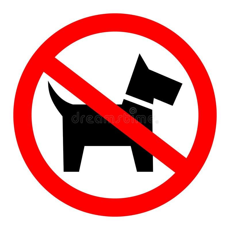 No insegue il segno permesso illustrazione di stock