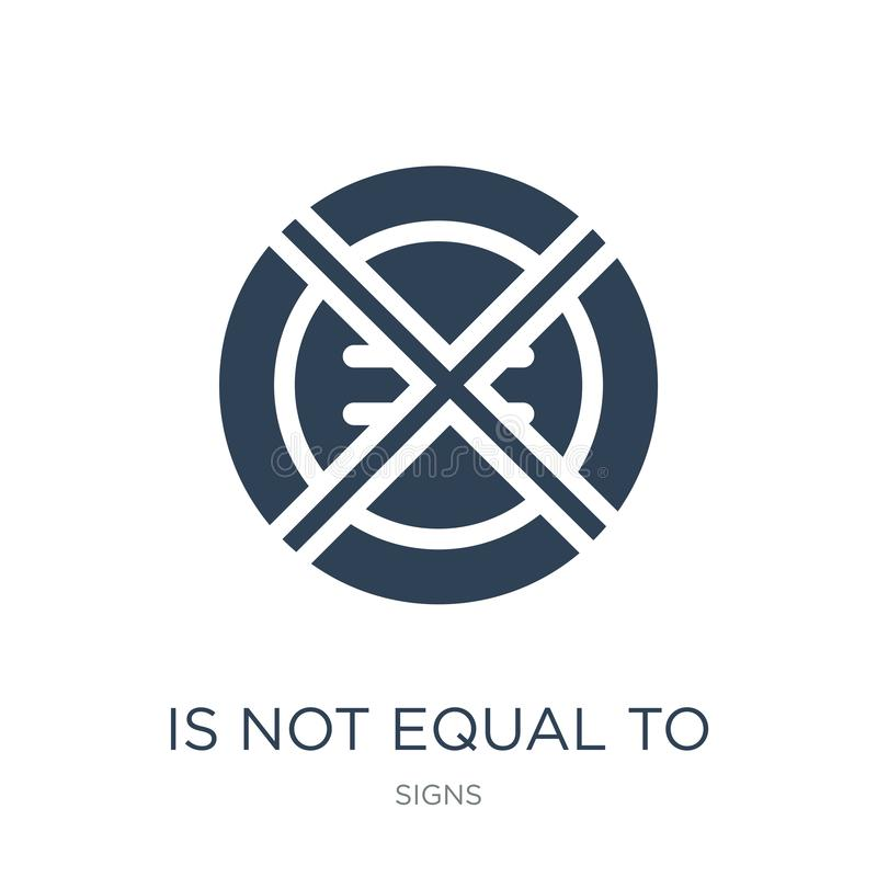 no jest równy ikona w modnym projekta stylu no jest równy ikona odizolowywająca na białym tle no jest równy wektorowa ikona prost ilustracji