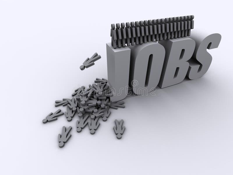 No jobs unemployment scrapheap vector illustration