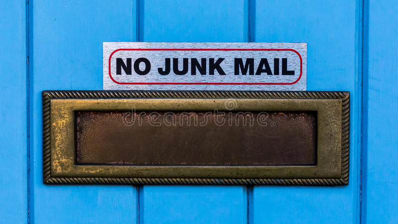No Junk Mail stock image