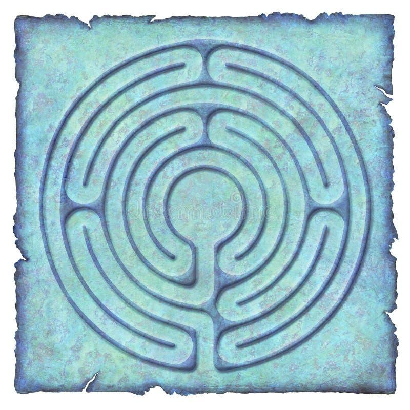 No labirinto - circuito 6 ilustração do vetor