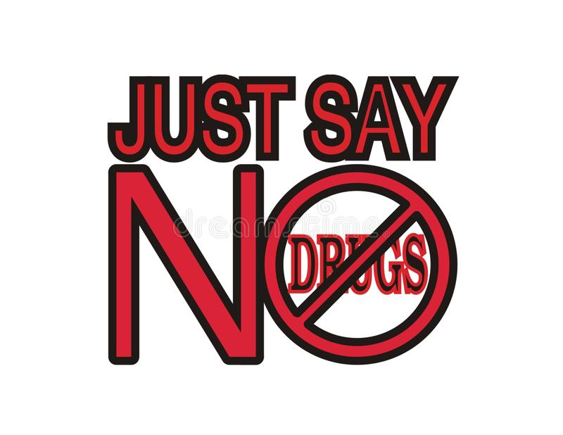 No a las drogas. libre illustration