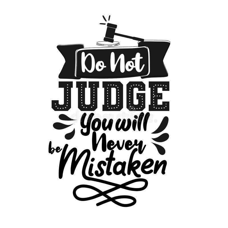 No le juzgue nunca confundido E Cita de la tipograf libre illustration