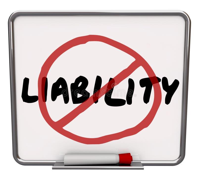 No Liability Reduce Risk Mitigation Danger Prevention stock illustration