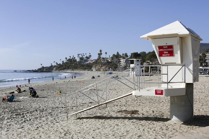 No Lifeguard on Duty stock photo