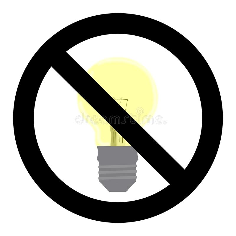 No Light Symbol. Do Not Turn On Sign Stock Vector - Illustration of ...
