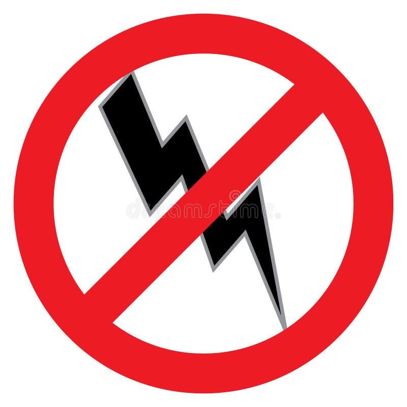 Free No Lightening Bolt Symbol Royalty Free Stock Photography - 126824817