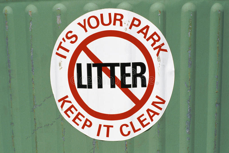 No littering sign royalty free stock photos
