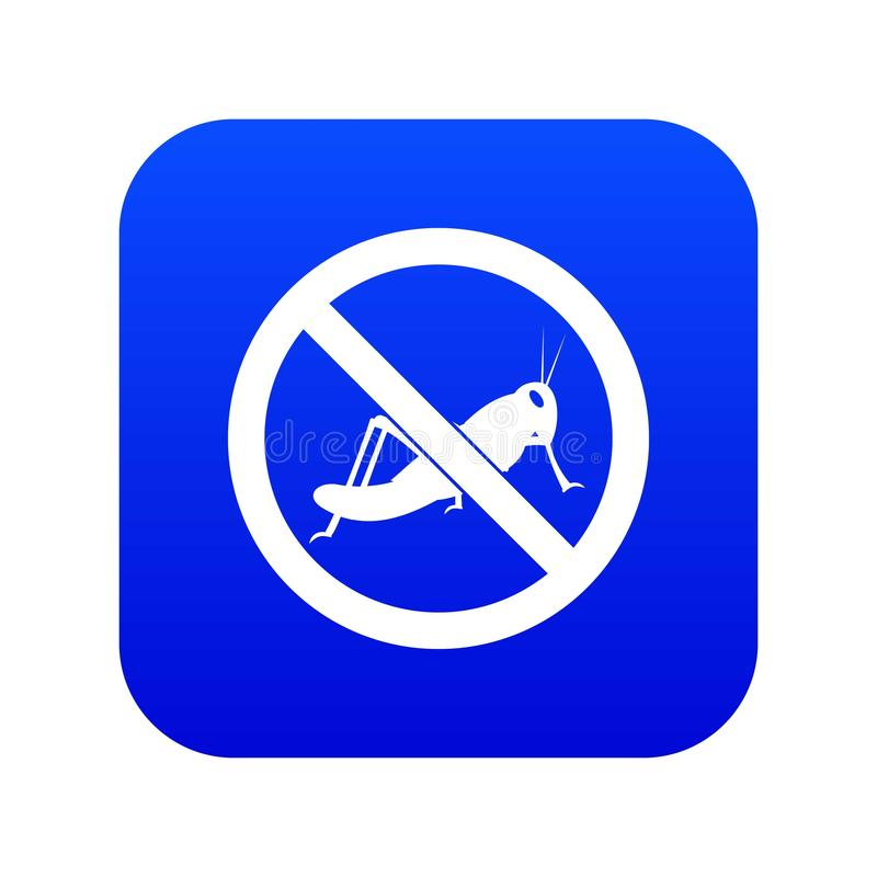 No locust sign icon digital blue. For any design isolated on white vector illustration vector illustration