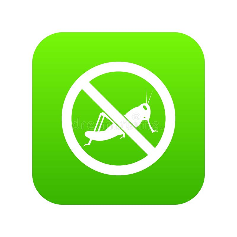 No locust sign icon digital green. For any design isolated on white vector illustration royalty free illustration