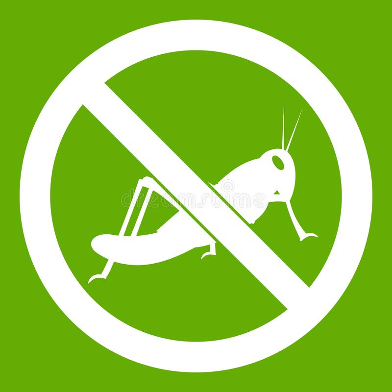 No locust sign icon green royalty free illustration