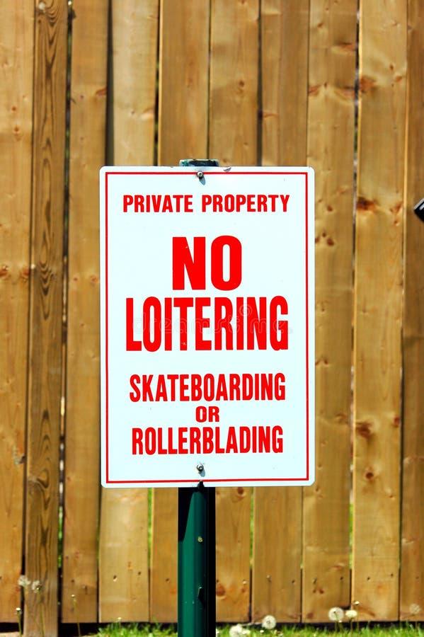 No Loitering Sign royalty free stock photo