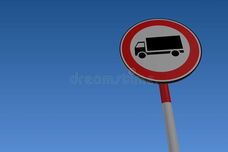 No Lorries Road Sign royalty free illustration