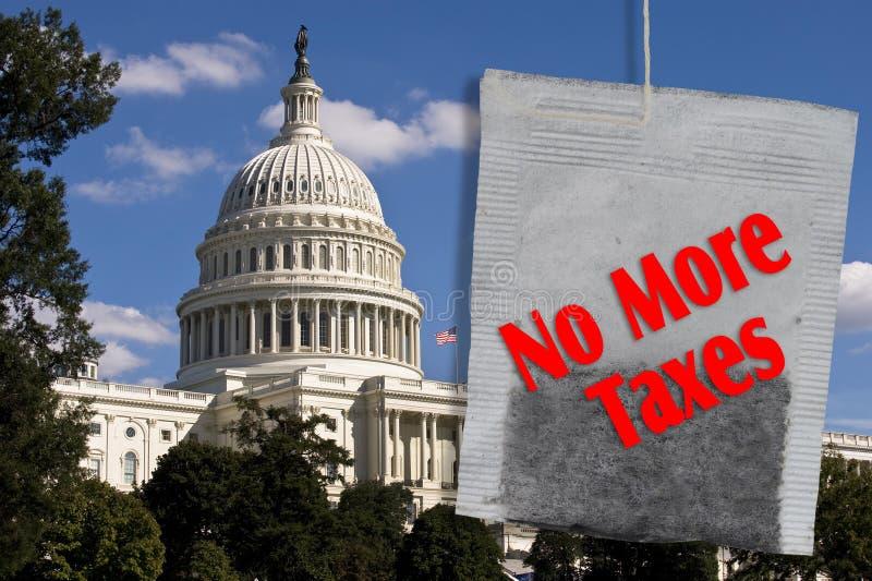 No más de impuestos. foto de archivo libre de regalías