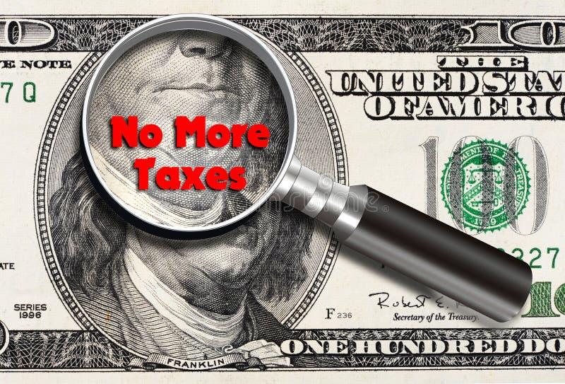 No más de impuestos ilustración del vector