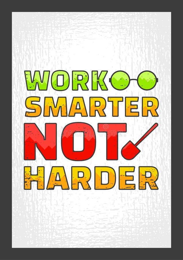 No más duro más elegante del trabajo un Cita de motivación stock de ilustración