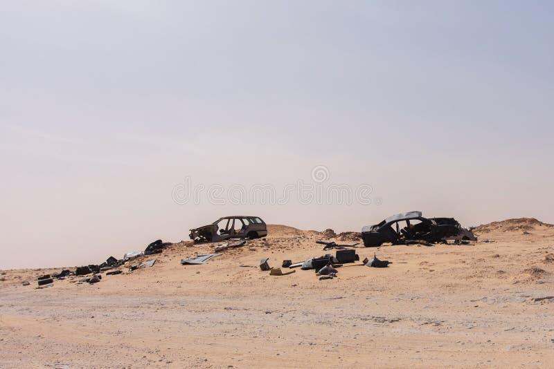 No-man's land between Morocco and Mauritania royalty free stock image