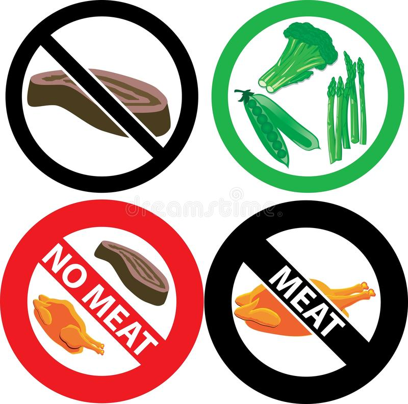 No Meat Sign royalty free illustration