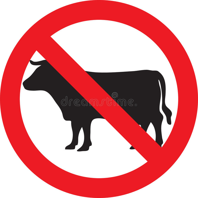 No meat sign vector illustration