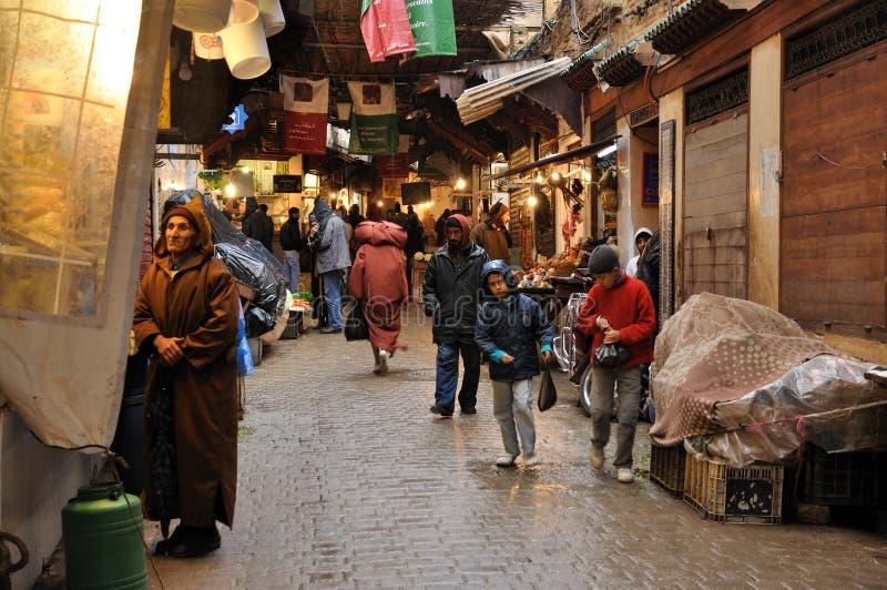 No Medina de Fes, Marrocos foto de stock royalty free
