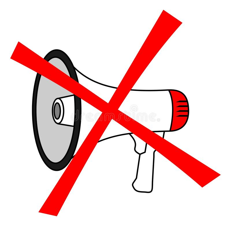 No megaphone stock illustration