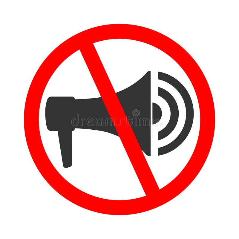 Do not use megaphone vector illustration
