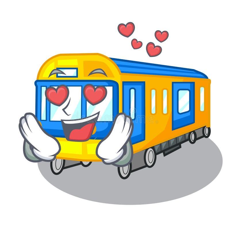 No metro do amor isolado nos desenhos animados ilustração stock
