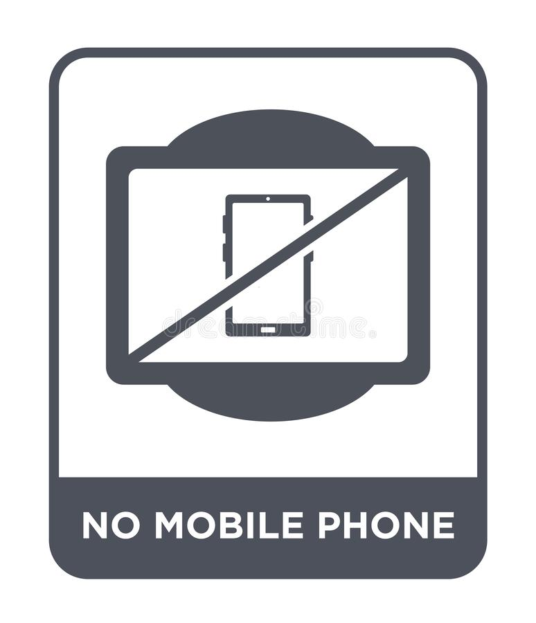 no mobile phone icon in trendy design style. no mobile phone icon isolated on white background. no mobile phone vector icon simple vector illustration