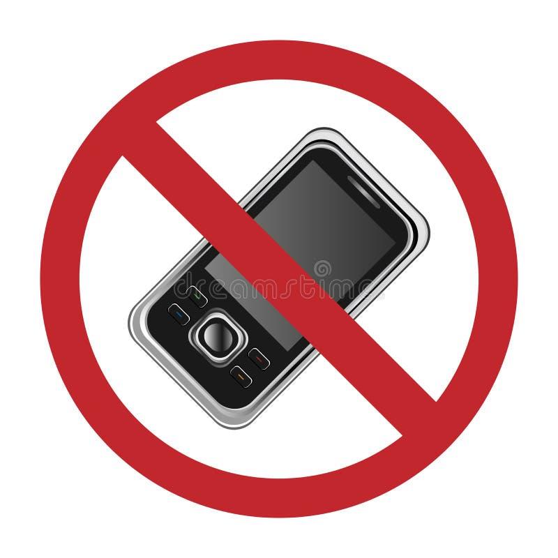 No mobile phones sign. Illustration of a no mobile phones sign.EPS file available vector illustration