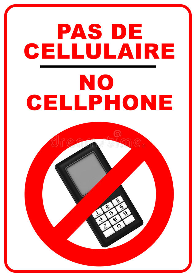 No mobile phones sign stock images