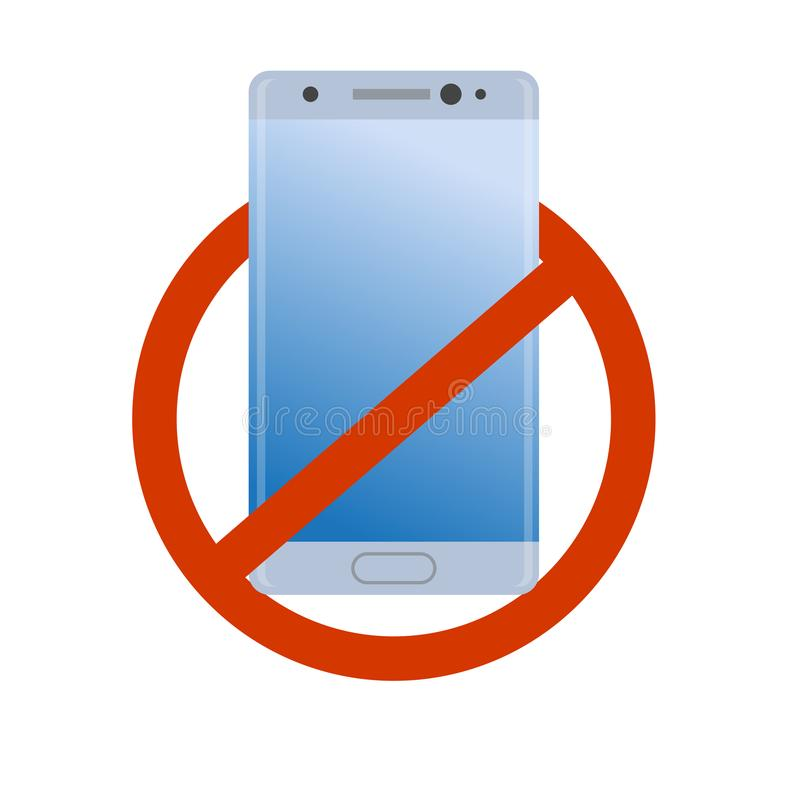 No Modern Smartphone Icon Forbidden Cell Phone Bad Quality Danger