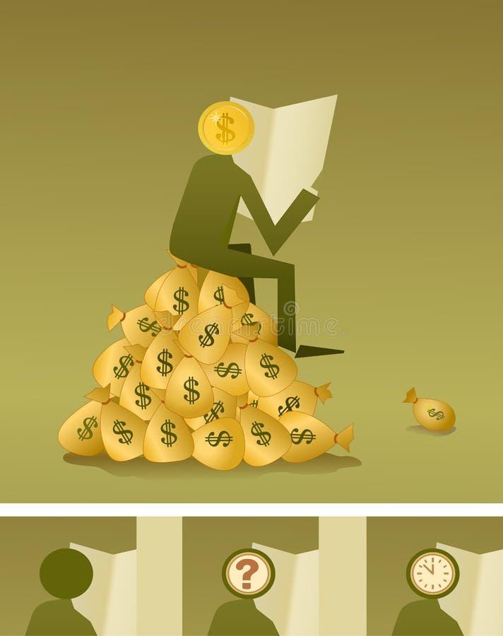 No montão do dinheiro ilustração stock