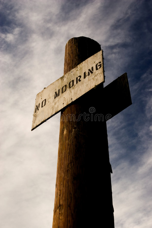 No mooring sign stock photos