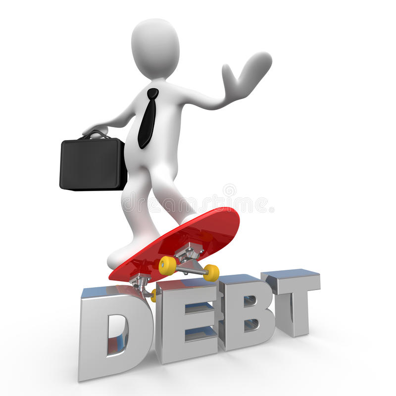No More Debt Royalty Free Stock Image