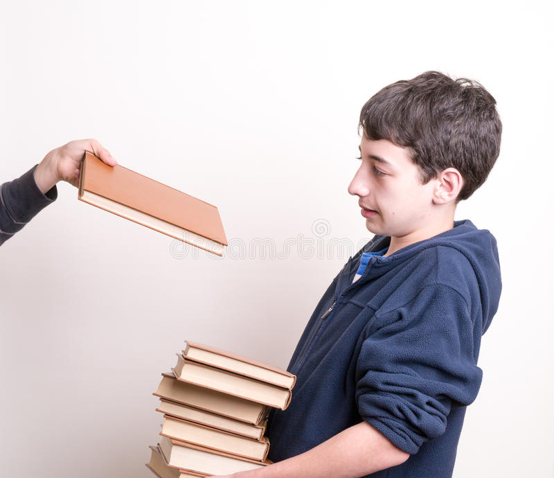 No more homework, please stock photography