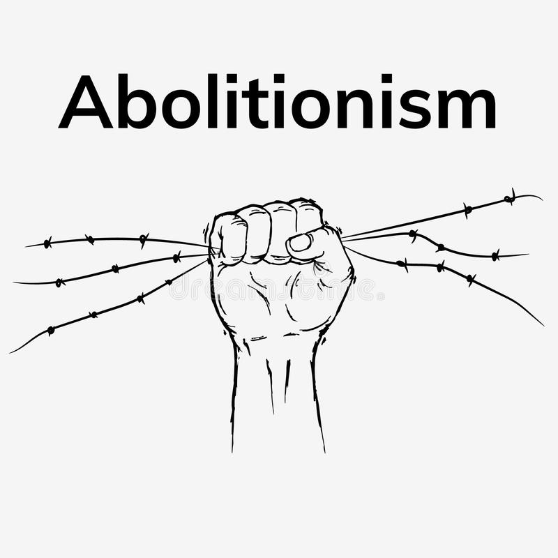 No more slavery stock illustration