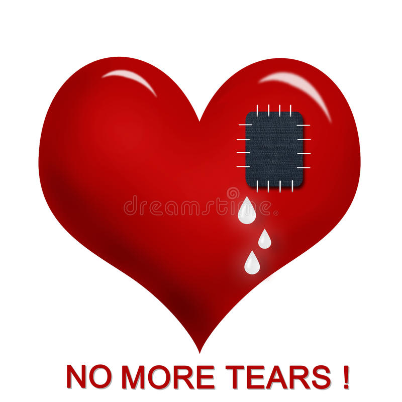 Download No more tears ! stock illustration. Illustration of inscription - 17704230
