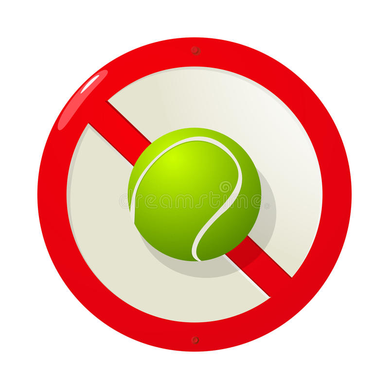Download No more tennis stock vector. Image of beautiful, symbol - 27408954
