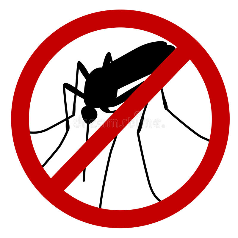 No mosquito. Sign, stop mosquito sign isolated on white