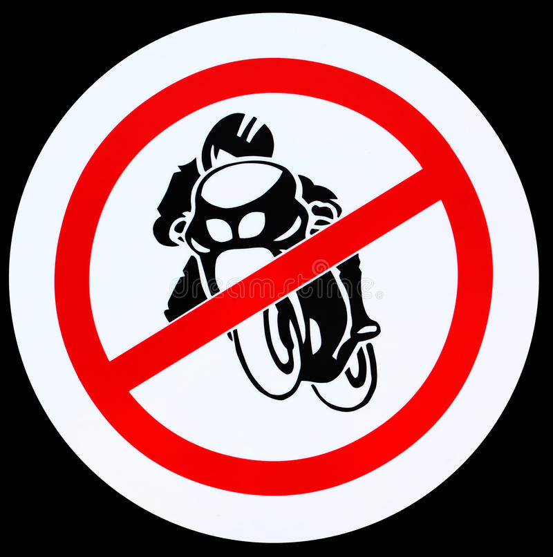 Download No motorcycle sign stock image. Image of rider, engine - 24996829