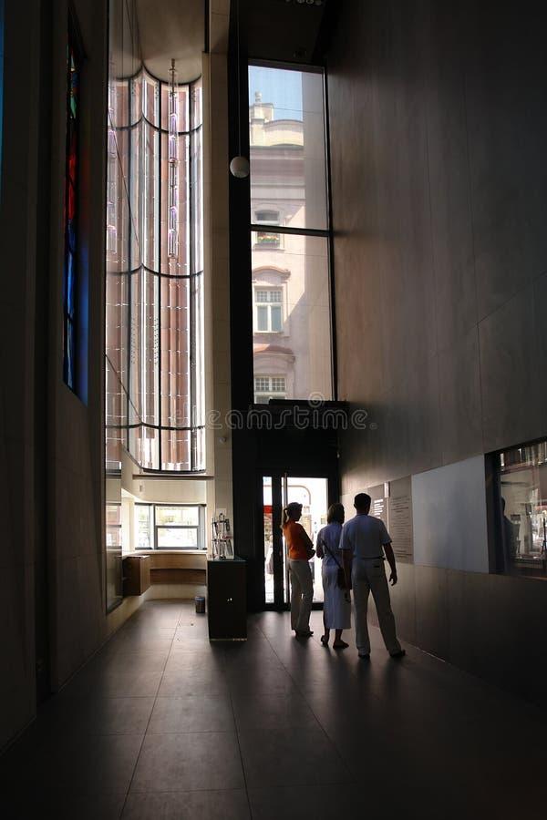 No museu fotografia de stock